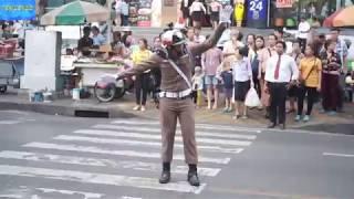Traffic Cop at  Robinson Department Store Bangkok Thailand