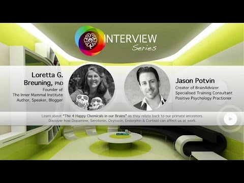 The 4 Happy Chemicals in our Brains: BrainAdvizor Videocast with Dr. Loretta G. Breuning