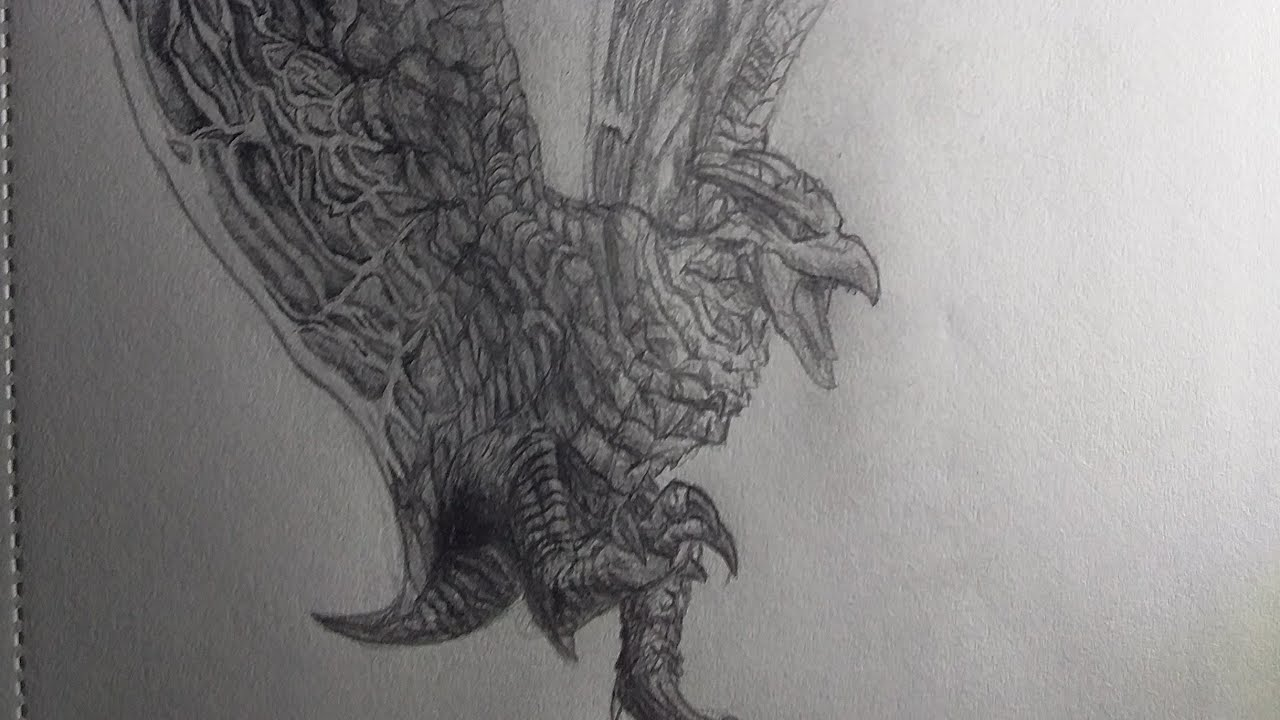 Drawing 2019 rodan from godzilla kotm sketch book page 5