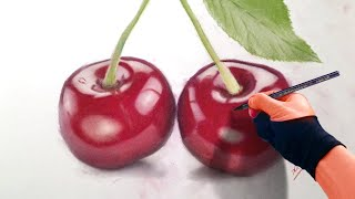 Still Life - Drawing Cherries - Realism time-lapse Art Video Art Drawing Video