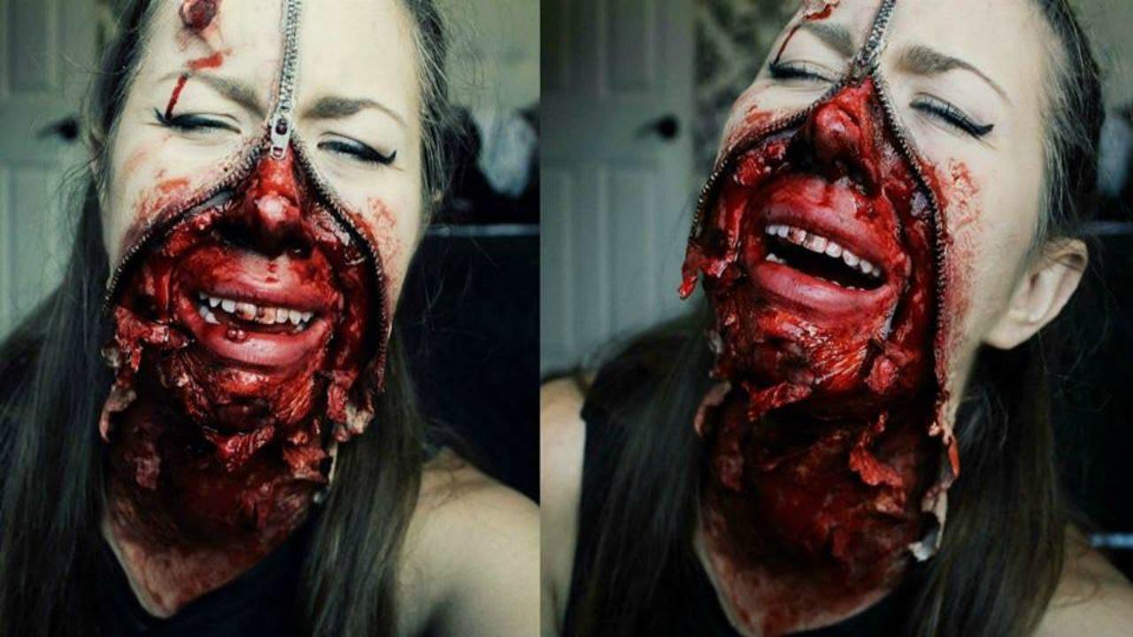 Zipper Face SFX Makeup - Halloween 2015 Tutorial ☾ - YouTube