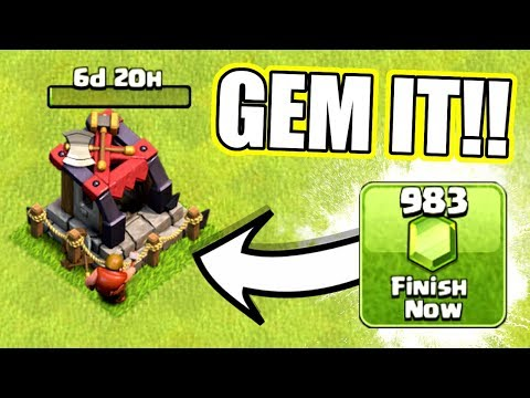 YOU'LL NEVER GUESS WHAT IM ABOUT TO GEM / UNLOCK IN CLASH OF CLANS!