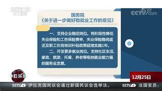 [今日环球]国务院印发《关于进一步做好稳就业工作的意见》 就稳就业工作提出六方面重点举措  CCTV中文国际