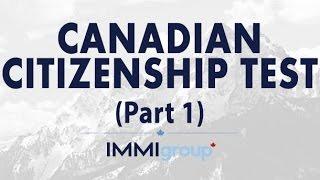 Canadian Citizenship Test - Part 1