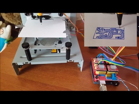 DVD CNC DIY ARDUINO CNC SHIELD making PCB | GRBL | EASEL