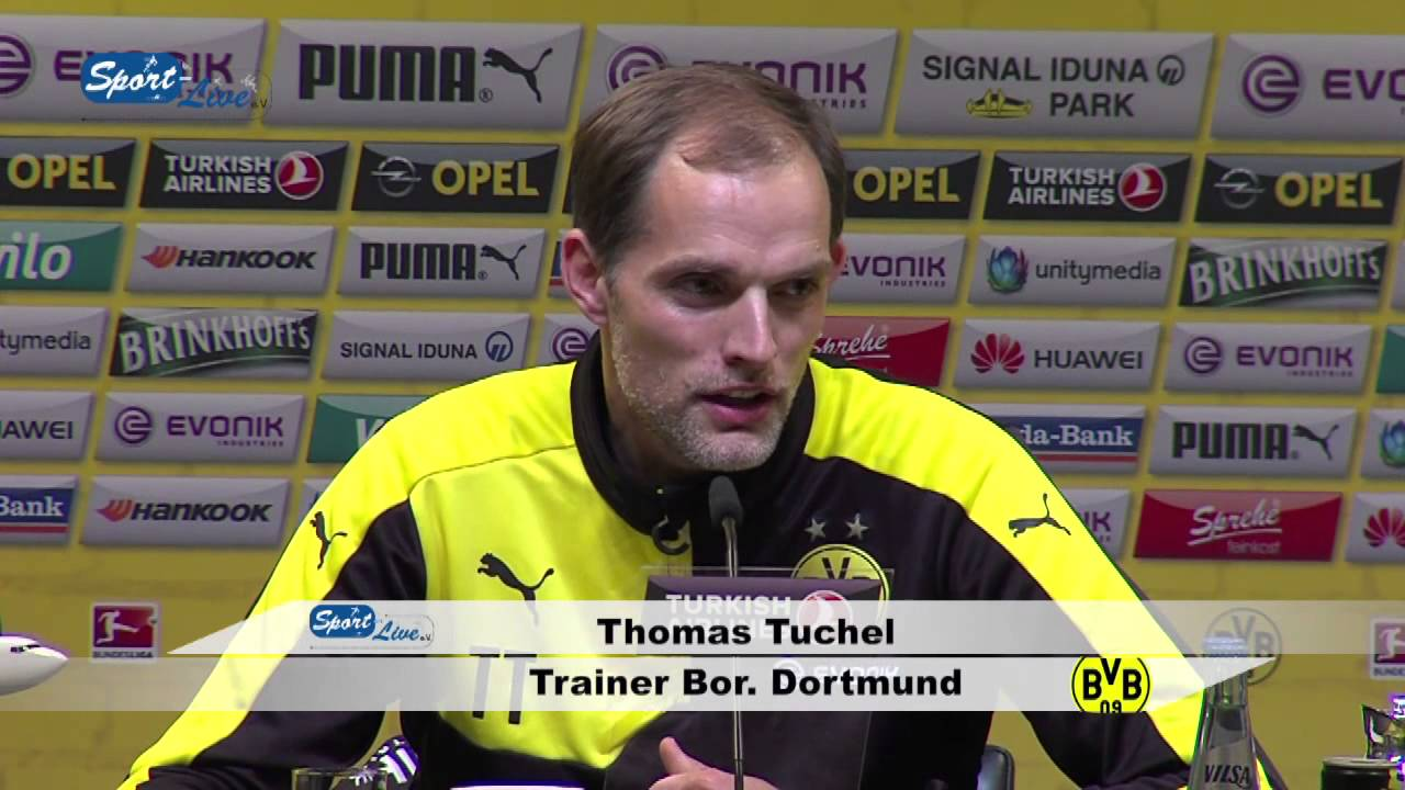 Pressekonferenz nach dem Spiel  Bor. Dortmund-FC Schalke 04 3:2
