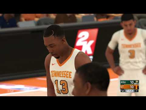 NBA 2K18 College 1st RD Tournament Game Wright State Raiders vs Tennessee Volunteers 03 15 2018