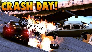 TONS of Car CRASHES and EXPLOSIONS! Crashday Gameplay - Vehicle Car Battles Physics of Destruction!