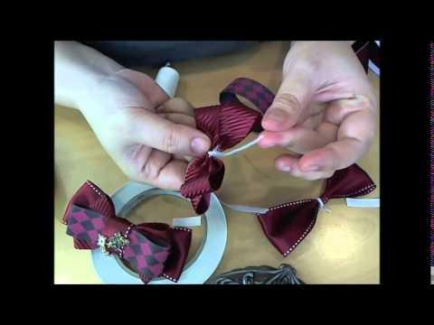 簡単ハンドメイド・トリプルリボンのヘアバレッタの作り方
