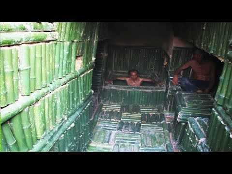 Build Secret House Bamboo Underground And Wells Water in House