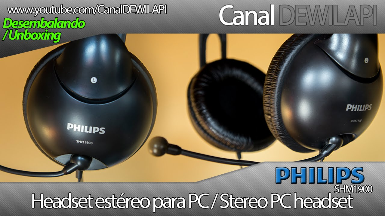 Philips SHM1900 00 headset - Desembalando e impressões  8134c7f9cf