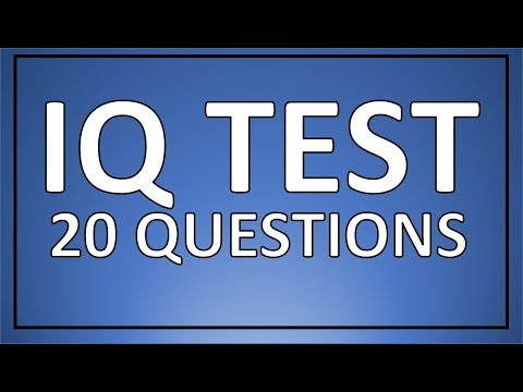 IQ TEST - 20 real IQ test questions