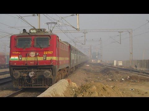Red Beast i.e. ED WAP-4 with 10 hrs late running 22404 New Delhi Puducherry Superfast Express