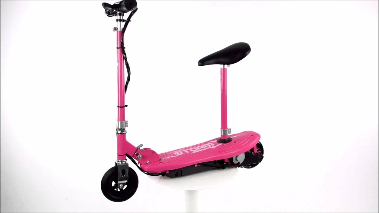 Storm Kids Pink Electric Scooter With Seat 360 Degree View