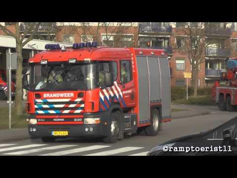 Opkomst + Uitruk Brandweer Hellevoetsluis & Oudenhoorn met spoed naar een gebouwbrand