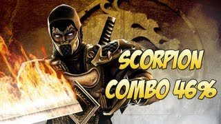 Mortal Kombat 9 - Scorpion combo 46%