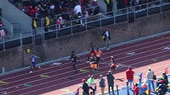 Bryce Robinson wins Olympic Devel Mens 100 at Penn Relays 2019