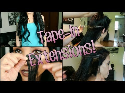 How To: Tape-In Hair Extensions | FIRST TIME | Irresistible Me