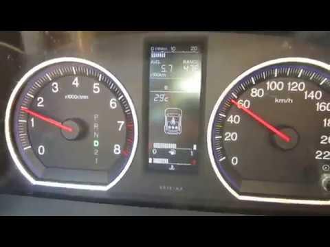 Расход бензина на автомобиле HONDA CRV  2007