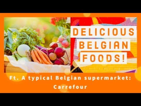 THIS IS WHAT A BELGIAN SUPERMARKET LOOKS LIKE // ベルギー料理ってどんな感じ// CARREFOUR MARKET