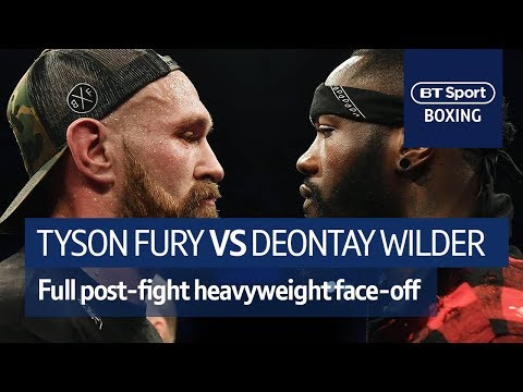 IT'S ON! Tyson Fury and Deontay Wilder FULL post-fight confr