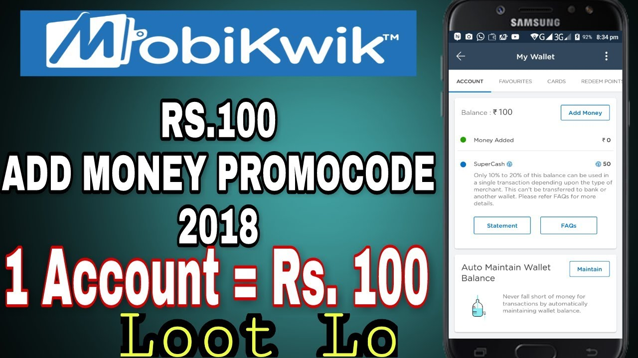 We have listed top trending Mobikwik Coupons, Promo codes & Offers for Today October 12222: