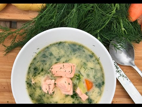 Best Salmon Soup recipe | SAM THE COOKING GUY IN FINLAND
