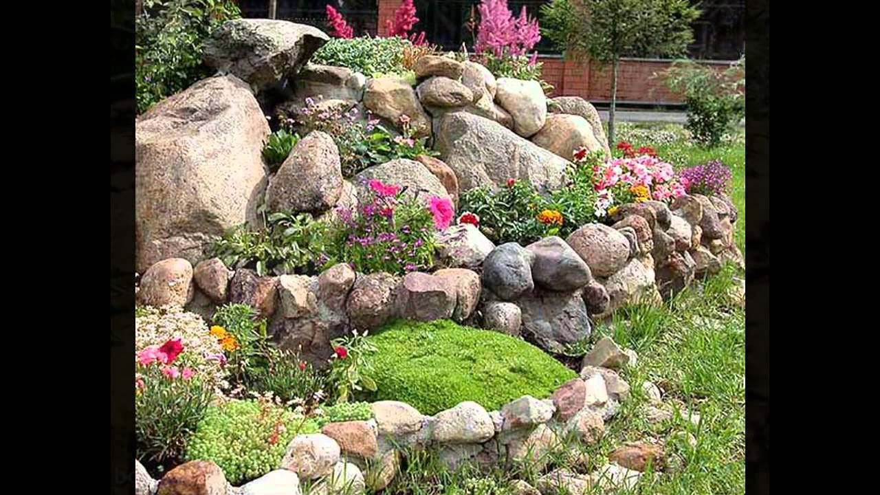 Beautiful cactus rock garden - YouTube