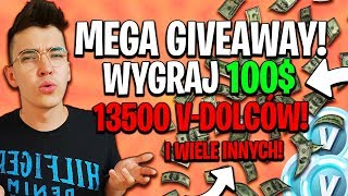 * MEGA GIVEAWAY * TO WIN OVER 650ZŁ! 13500 v-Bucks! | Chrystek-Fortnite