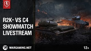 WoT Blitz. Showmatch R2K- vs C4. Livestream thumbnail
