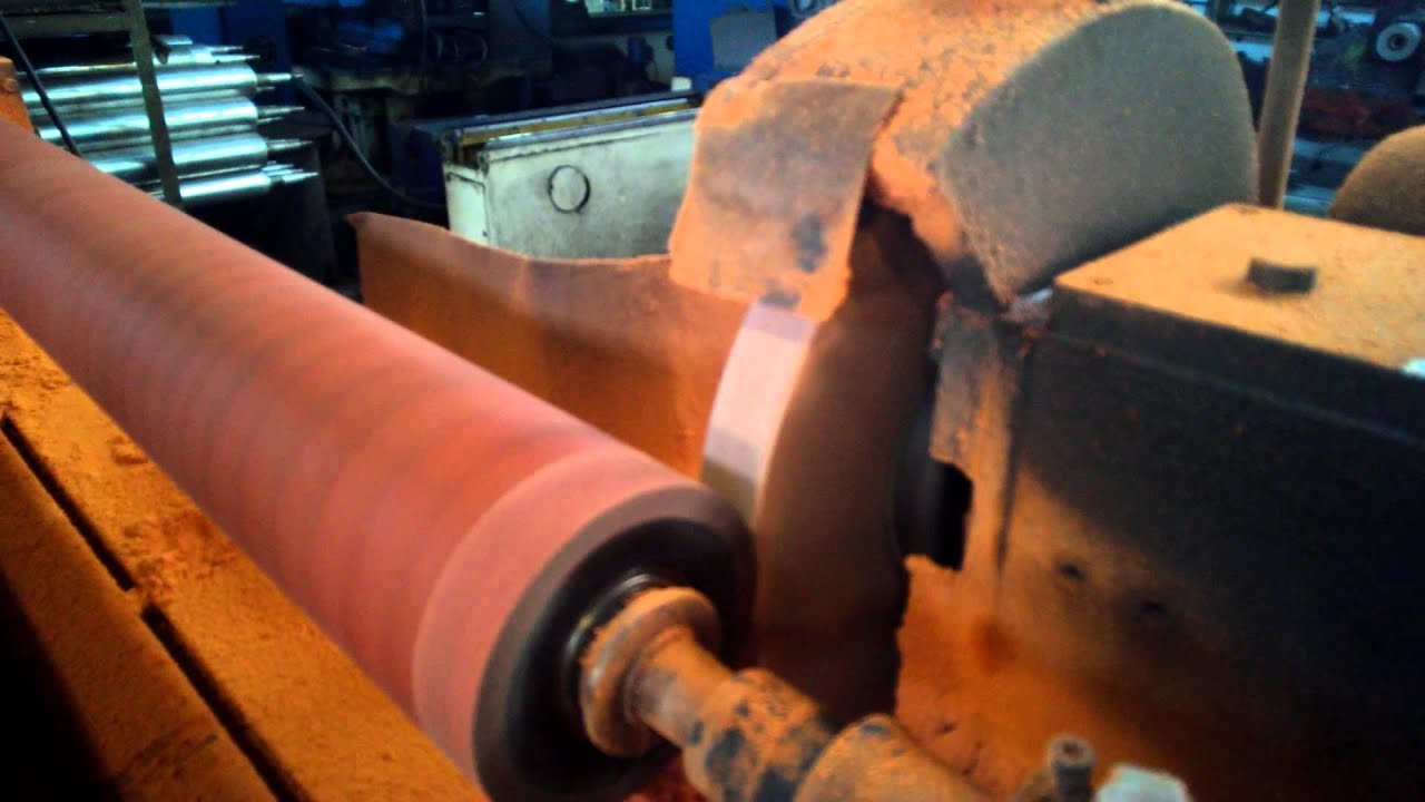 Rubber Roll Grinding Youtube