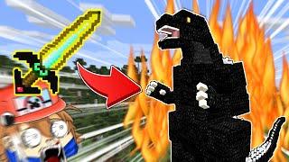 【マイクラ】まな板vs最強の怪獣「ゴジラ」!勝つのはどっち!?【ゆっくり実況】