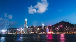 夜 香港 hong kong night timelapse