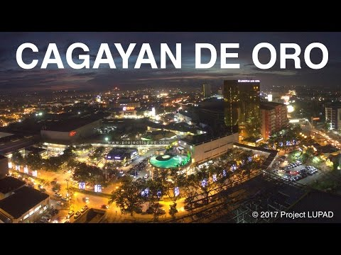 Cagayan de Oro Central Business District Dusk to Dark 4K
