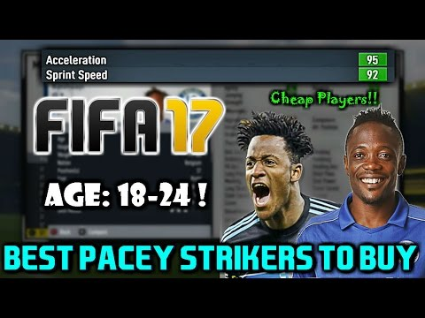 FIFA 17: BEST PACEY STRIKERS TO BUY ON CAREER MODE (Any Teams)