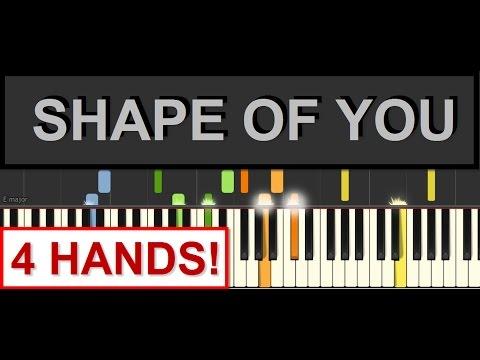Shape of You 4-Hands Piano Tutorial (Ed Sheeran) by SPW