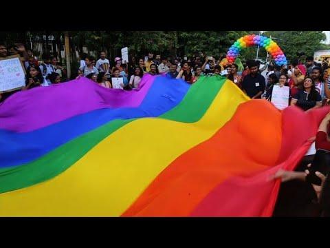 Pride parade in India as court considers decriminalising gay sex