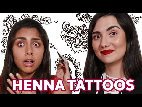 Giving Each Other Henna Tattoos For The First Time • Saf & Michelle