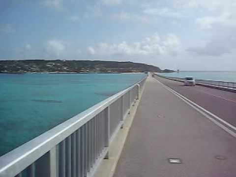 古宇利大橋を自転車で古宇利島側へ