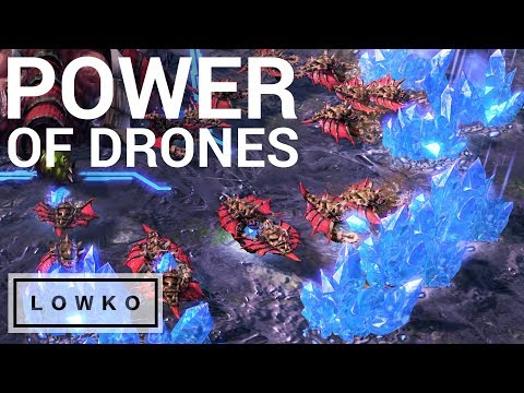 StarCraft 2: THE POWER OF DRONES!