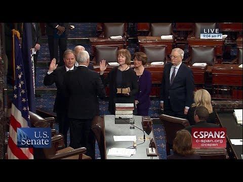 Doug Jones & Tina Smith sworn into the U.S. Senate CSPAN