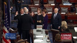 Doug Jones & Tina Smith sworn into the U.S. Senate (C-SPAN)