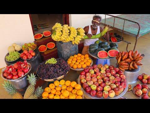 FRUIT CUSTARD !!! Recipe Prepared by My Daddy ARUMUGAM / Village food factory