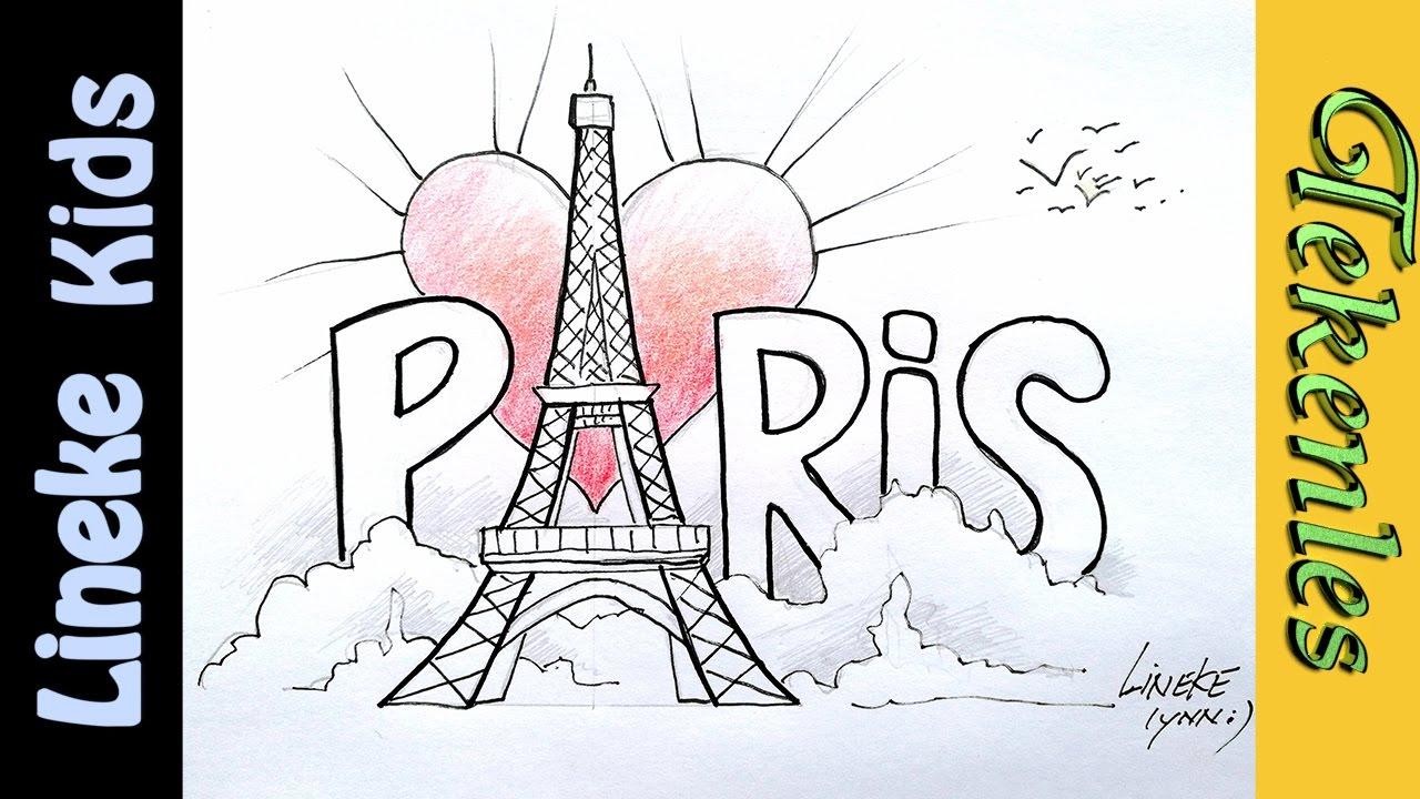 Genoeg De Eiffel toren van PARIJS leren tekenen 🗼✍ in stappen! - YouTube &AC51