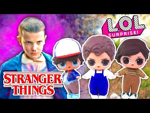 STRANGER THINGS Custom LOL SURPRISE Dolls Series 2 Eleven, Dustin and Finn L.O.L  Baby Doll