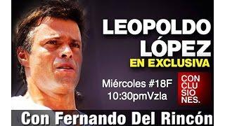 [EN VIVO] Leopoldo Lopez en entrevista telefónica con Fernando del Rincon por CNN
