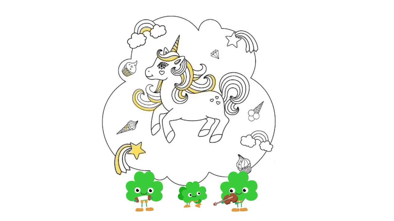 Mewarnai Gambar Unicorn Wwwtollebildcom