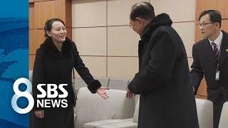 김영남도 깍듯이 대하는 김여정의 위상 / SBS