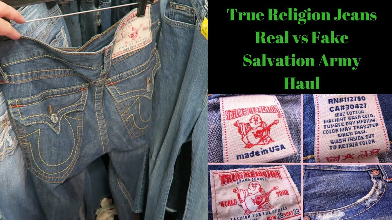 c26ea33dc True Religion Jeans REAL vs FAKE. Salvation Army Haul - YouTube