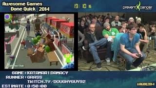 Katamari Damacy :: SPEED RUN (0:31:49) by grass #AGDQ 2014 [PS2]